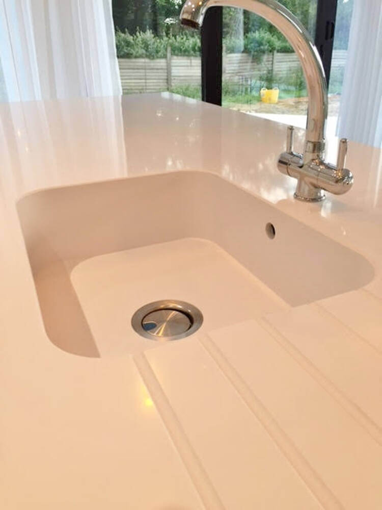 All in one Silestone sink and worktop