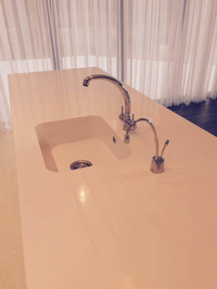 All in one silestone sink and worktop 3