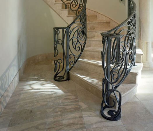 Commercial stone staircase