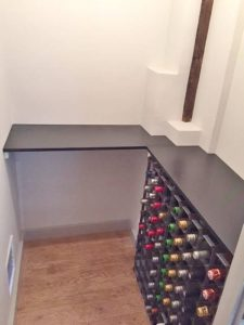 Slate larder and wine store shelves
